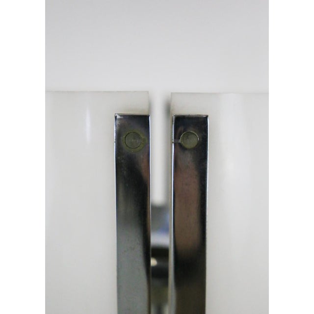 Metal 70s Table Lamp in Plexiglass and Chrome Steel Jacques Quinet For Sale - Image 7 of 8