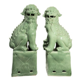 Chinese Song Style Mid Century Foo Dogs - a Pair For Sale