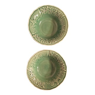 Bordallo Embossed Country Bowls - a Pair For Sale