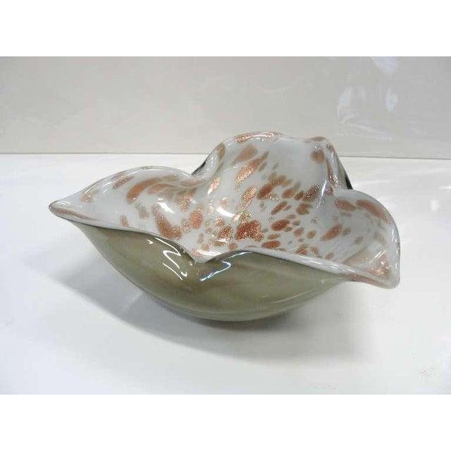 Smokey Grey and Gold Flake Murano Dish - Image 2 of 7