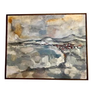 Pleine Aire Landscape Abstract Expressionism Oil Painting For Sale