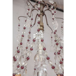 1900s French Bronze Beaded Chandelier With Amethyst and Rock Crystal Preview