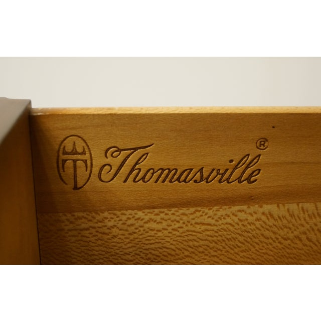 Wood Vintage Thomasville Furniture Mystique II Asian Style Armoire For Sale - Image 7 of 12