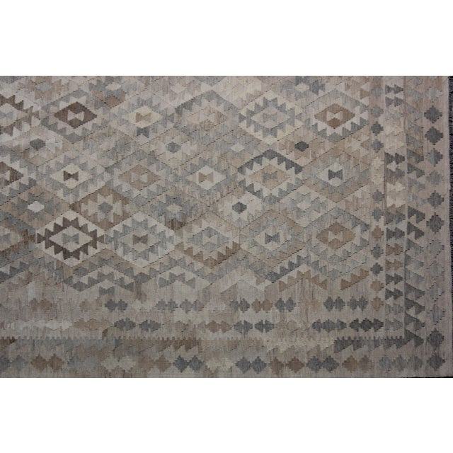 """Modern Hand-Knotted Modern Kilim by Aara Rugs - 9'7"""" x 6'10"""" For Sale - Image 3 of 6"""