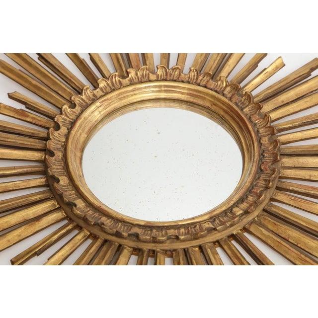 Gold Giltwood Sunburst Mirror For Sale - Image 8 of 8