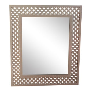 Palm Beach Style White Latrice Oversized Mirror