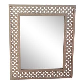 Palm Beach Style White Latrice Oversized Mirror