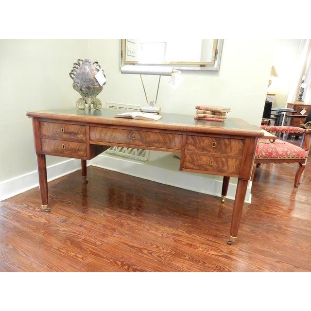 Elegant Louis XVI 19th Century Walnut Desk For Sale - Image 10 of 11