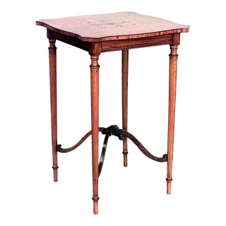 English Sheraton Satinwood End Table For Sale