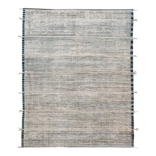 Blue Modern Moroccan-Style Berber Rug For Sale