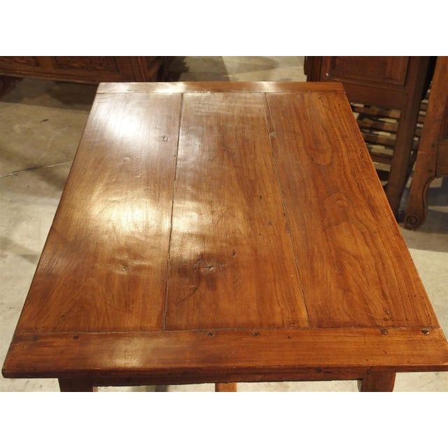 Brown Antique Cherry and Walnut Wood Side Table, 18th Century For Sale - Image 8 of 12