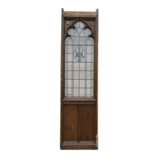 Antique Church Lead Glass Window Door