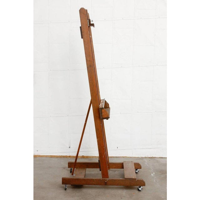 Midcentury Wooden Adjustable Painters Art Studio Easel For Sale In San Francisco - Image 6 of 13