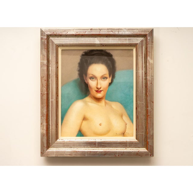 This beautiful pastel portrait was recently acquired from a London, England estate and it dates to the late 1920s. The...