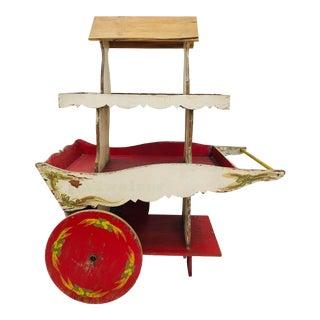 Antique Wooden Budweiser Cart For Sale