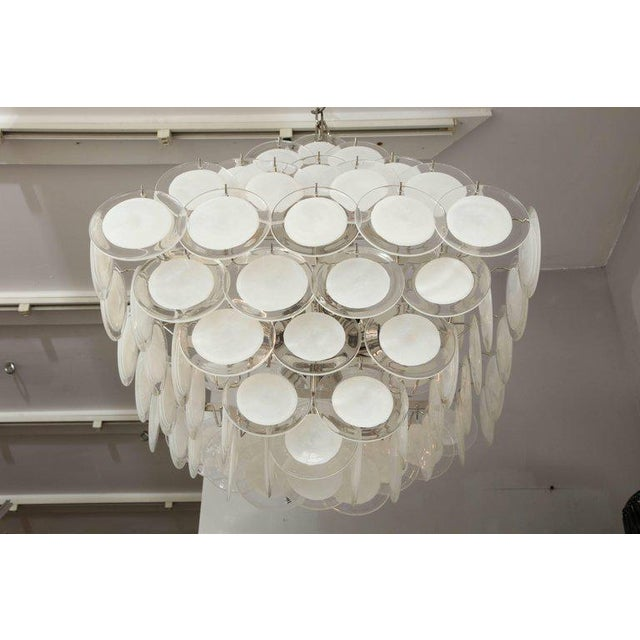 Glass Murano Glass Disc Chandelier For Sale - Image 7 of 10