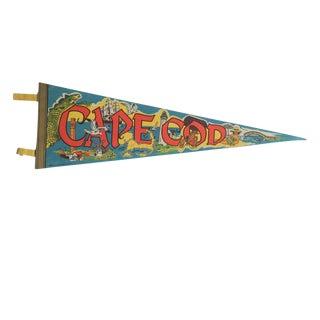Vintage Cape Cod Felt Flag Pennant