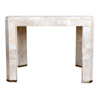 1970s Maitland-Smith Tessellated Stone Side Table For Sale