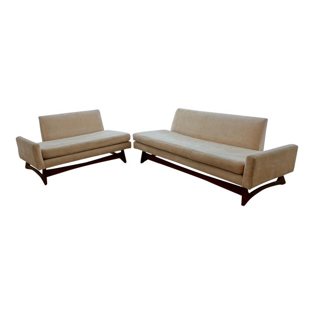 Custom Mid-Century Adrian Pearsall Two Piece Sofa - Image 1 of 4