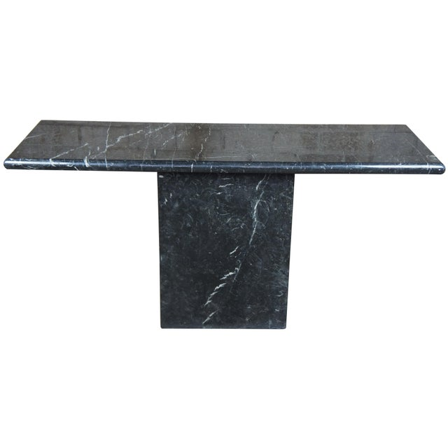 Mid Century Modern Black Italian Marble Console or Sofa Table For Sale - Image 10 of 10