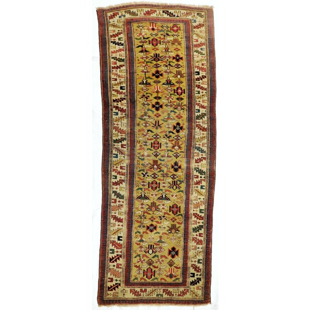 1900s Antique Caucasian Shirvan Runner For Sale - Image 13 of 13