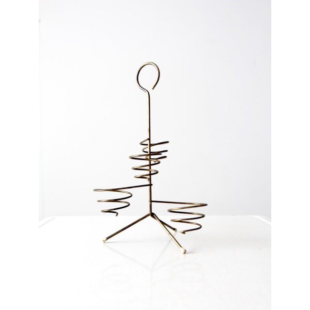 Mid-Century Brass Coil Stand For Sale - Image 5 of 9