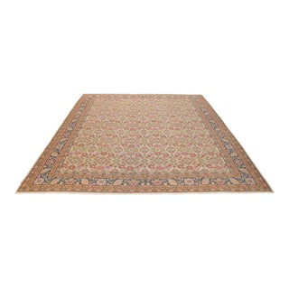 Palace Sized Hand Woven Flat Wave Kilim Rug - 16′11″ X 19′2″ For Sale