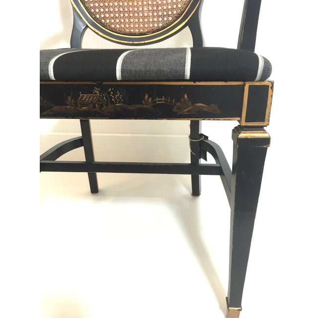 Hepplewhite Style Ebony Chinoiserie Chair - Image 10 of 10