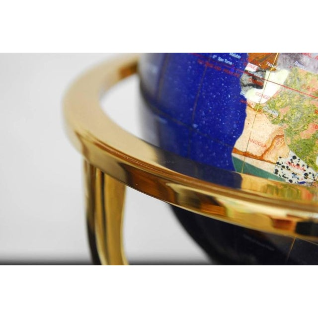 Maitland Smith Attributed Pietra Dura & Brass Globe For Sale - Image 5 of 10