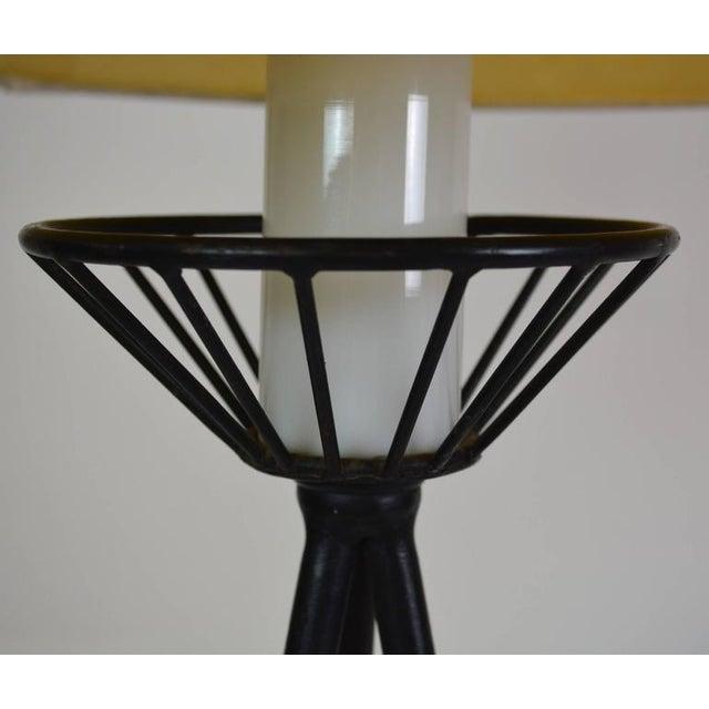 Mid-Century Modern Mid-Century Modern Iron Tripod Lamp For Sale - Image 3 of 6