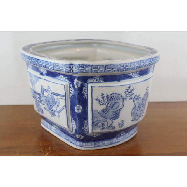 Mid 20th Century Vintage Mid Century Chinese Garden Scene Planter For Sale - Image 5 of 7