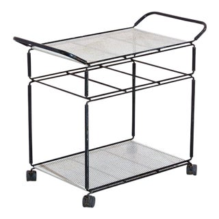 Vintage 1950s Perforated Tea Cart by Mathieu Mategot For Sale