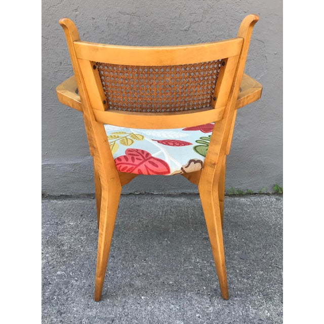 Edmond J. Spence 1950s Swedish Edmond Spence Birch and Caning Arm Chair For Sale - Image 4 of 6