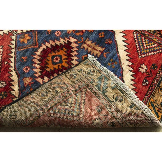 Vintage Persian Kazak Floor Runner-3'5'x9'8' For Sale - Image 4 of 10
