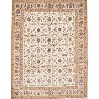 Pasargad N Y Persian Tabriz Silk & Wool Rug - 10' X 13' For Sale