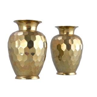 Decorative Brass Vases - Pair