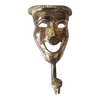 Handcrafted Metal Face Mask Coat Holder/Hook For Sale