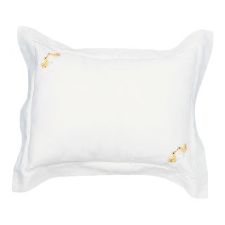 Yellow Ducks Boudoir Pillow Covers For Children Hand Embroidered For Sale