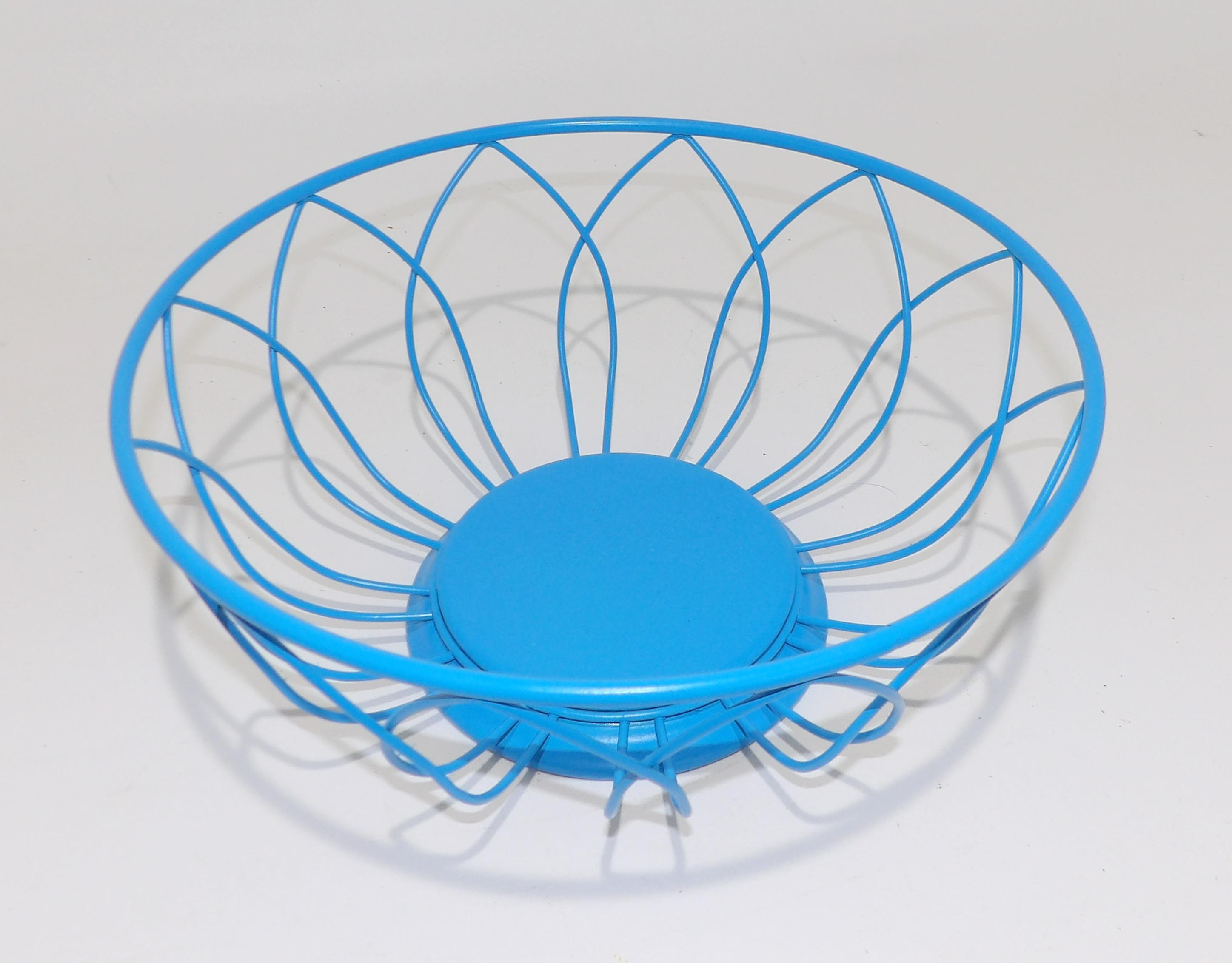 Teal Wire Fruit Bowl - WIRE Center •