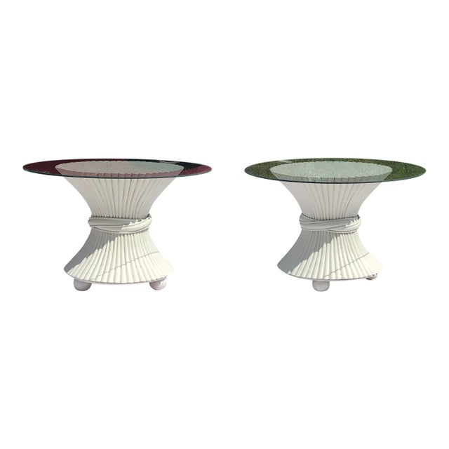 1960s 1960s McGuire Wheat Sheath Side Tables - a Pair For Sale - Image 5 of 5