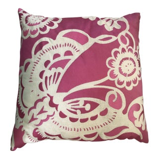 Trina Turk Embroidered Pillow For Sale