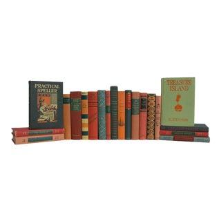 Tangerine & Fern Vintage MIX Books - Set of 20 For Sale