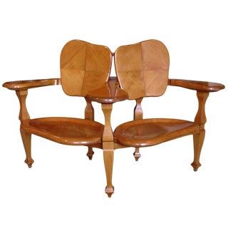 1950s Art Nouveau Antoni Gaudi Casa Batllo Bench For Sale
