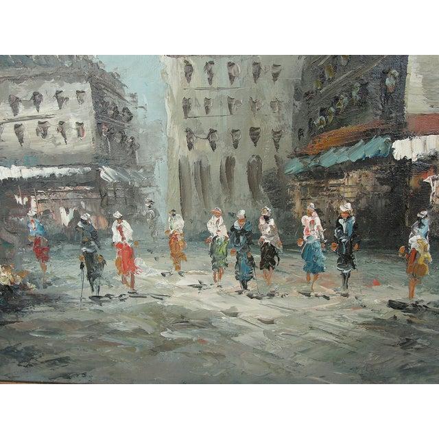 Mid-Century Paris Oil Painting by Burnett - Image 4 of 7