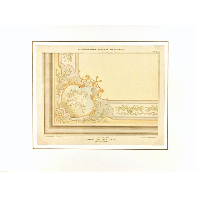 French Antique Ceiling Decor, C. 1890 For Sale - Image 3 of 4