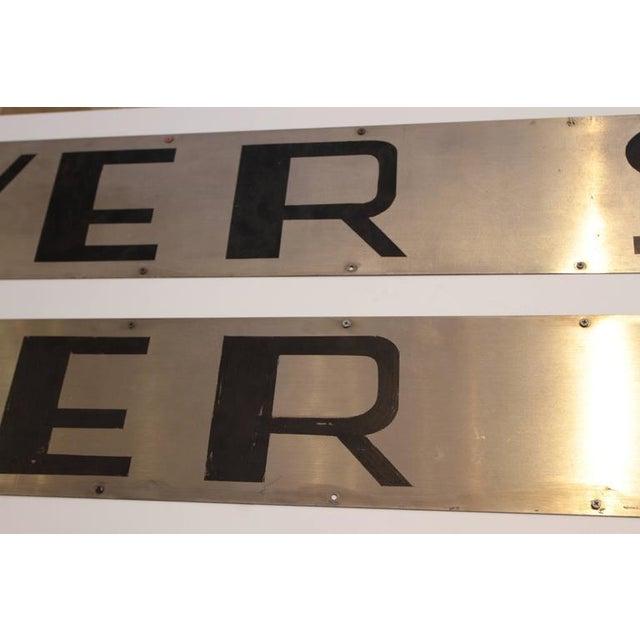 Machine Age Art Deco California Zephyr Pullman Train Car Nameplates Vista Dome For Sale - Image 9 of 10