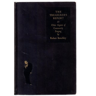 "1930 ""The Treasurer's Report: &Amp; Other Aspects of Community Singing"" Collectible Book For Sale"