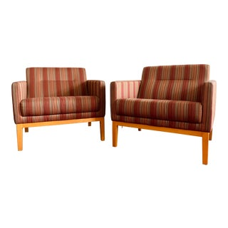 Striped Contemporary Chairs - a Pair For Sale