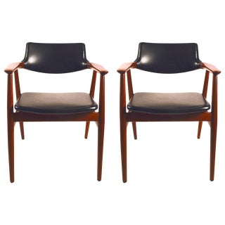 Pair of Grete Jalk Teak Armchairs For Sale