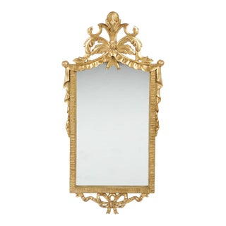 Italian Neoclassical Style Carved Giltwood Mirror by Cannell & Chaffin For Sale
